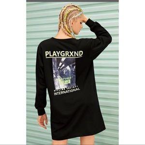 Oversized Shirt Long Sleeve Dress ASOS playgrxnd